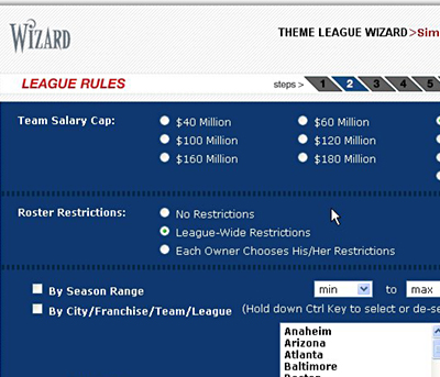Theme League Wizard