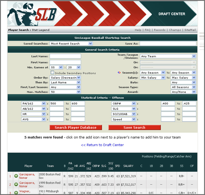SimLeague Baseball – Baseball Simulation Games and Baseball
