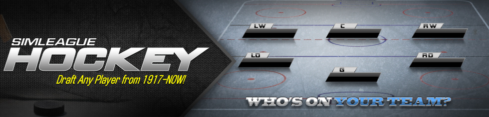 Sim League Hockey - Draft Any Player Since 1917!