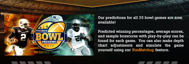 2010 College Football Bowl Predictions